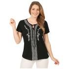 Sommerliches Damen-Shirt 'Vedranell' schwarz 46/48-3XL - 100906600005 - 1 - 140px