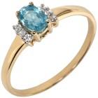 Ring 585 Gelbgold Zirkon blau 18 - 100923100003 - 1 - 140px