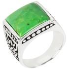 Ring 925 Sterling Silber Türkis grün rekonstruiert 18 - 100934600001 - 1 - 140px