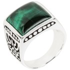 Ring 925 Sterling Silber Malachit 18 - 100934700001 - 1 - 140px