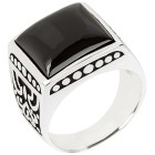 Ring 925 Sterling Silber Onyx 18 - 100934800001 - 1 - 140px
