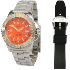 "DELMA ""Blue Shark III"" Herrenuhr Automatik orange - 101076200000 - 1 - 140px"