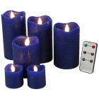 LED-Kerzenset blau, mit Fernbedienung - 101081800000 - 1 - 140px