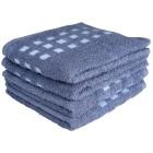 Handtuch 4er Set, blau kariert - 101110600000 - 1 - 140px