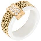 Ring Keramik Zirkonia Edelstahl vergoldet 18 - 101157000001 - 1 - 140px