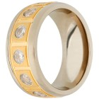 Ring Titan bicolor mit Zirkonia 19 - 101169800004 - 1 - 140px