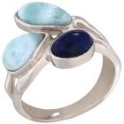 Ring 950 Silber rhodiniert Larimar 17 - 101189200001 - 1 - 140px