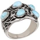 Ring 950 Silber rhodiniert Larimar, ca. 3,00 ct. 18 - 101189600001 - 1 - 140px