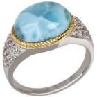 Ring 950 Silber rhodiniert Larimar, Topas 18 - 101190200001 - 1 - 140px