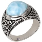 Ring 950 Silber rhodiniert Larimar 18 - 101190300001 - 1 - 140px