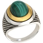 Ring 925 Sterling Silber bicolor Malachit 18 - 101228600001 - 1 - 140px