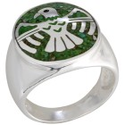 Ring 925 Silber Adler Türkis grün stabilisiert 18 - 101228700001 - 1 - 140px