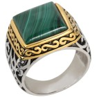Ring 925 Sterling Silber bicolor Malachit 18 - 101228800001 - 1 - 140px