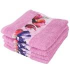 Handtuch 4er Set Blumen, rosa - 101229100000 - 1 - 140px