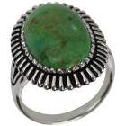 Ring 925 St. Silber Türkis grün stabilisiert 18 - 101234100001 - 1 - 140px