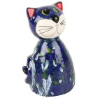 Katze, runde Form blau, ca. 20cm - 101263300000 - 1 - 140px