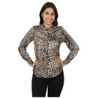 FASHION NEWS Damen-Bluse 'Joia' ecru/schwarz/grau