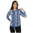 FASHION NEWS Damen-Bluse 'Lacene' blau S (36/38) - 101302900001 - 1 - 140px