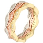 Ring 925 Sterling Silber Tricolor Wave 18 - 101310500002 - 1 - 140px