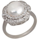 Ring 925 Sterling Silber Perle ca. 10,5 mm 18 - 101314000001 - 1 - 140px