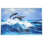 GRUND Badematte Delfine 60 x 90 cm - 101335900000 - 1 - 140px