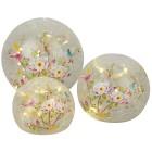 LED-Glaskugeln Blumen 3er-Set - 101422300000 - 1 - 140px