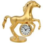 """Miniatur-Tischuhr """"Pferd"""" goldfarben - 101514400000 - 1 - 140px"""