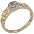 Ring 585 Gelbgold/Weißgold Brillanten 18 - 101544100001 - 1 - 140px