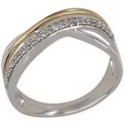 Ring 585 Weißgold/Gelbgold Brillanten   - 101544300000 - 1 - 140px