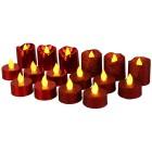 LED-Kerzen Glitter 16-teilig, rot - 101547100000 - 1 - 140px