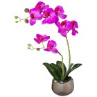 Orchidee lila real-touch 37cm im Silbertopf - 101600200000 - 1 - 140px