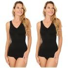 2er Pack Damen-Form-Hemd schwarz 52/54 (XXL) - 101606000004 - 1 - 140px