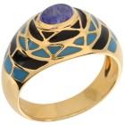 Ring 925 Sterling Silber vergoldet Tansanit 22 - 101625800005 - 1 - 140px