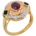 Ring 925 Sterling Silber vergoldet Rubin 17 - 101625900001 - 1 - 140px