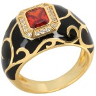 Ring 925 Sterling Silber verg. Emaille Zirkonia 18 - 101651800001 - 1 - 140px
