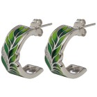 Creolen 925 Sterling Silber Emaille Zirkonia - 101652300000 - 1 - 140px