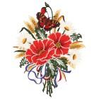 Plauener Spitze Fensterbild Blumenstrauß - 101654400000 - 1 - 140px