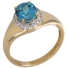 Ring 585 Gelbgold Zirkon blau 20 - 101658500001 - 1 - 140px