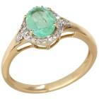 Ring 585 Gelbgold, Sambia Smaragd 20 - 101659000003 - 1 - 140px