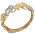 Ring Elephant 585 Gelbgold bicolor 18 - 101666400001 - 1 - 140px