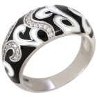 Ring Emaille 925 Sterling Silber Zirkonia 18 - 101713800001 - 1 - 140px