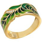 "Ring Emaille ""Paradies"" 925 vergoldet Zirkonia 18 - 101714200001 - 1 - 140px"