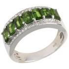 Ring 925 Sterling Silber rhodiniert Chromdiopsid 21 - 101727100006 - 1 - 140px