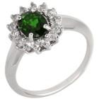 Ring 925 Sterling Silber rhodiniert Chromdiopsid 16 - 101728300001 - 1 - 140px