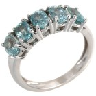 Ring 925 Sterling Silber rhodiniert Zirkon blau 20 - 101729900005 - 1 - 140px