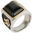 Ring Onyx Edelstahl vergoldet 21 - 101765000003 - 1 - 140px