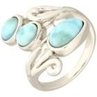 Ring 950 Silber rhodiniert Larimar, ca. 3 ct.   - 101770400000 - 1 - 140px