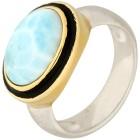 Ring 950 Silber rhodiniert Larimar, ca. 6,03 ct.   - 101770900000 - 1 - 140px