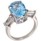 Ring 925 St. Silber Sky Blue Topas behandelt   - 101786500000 - 1 - 140px