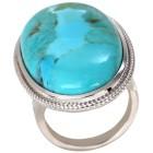 Ring 925 St. Silber rhodiniert Türkis stabilisiert   - 101786600000 - 1 - 140px